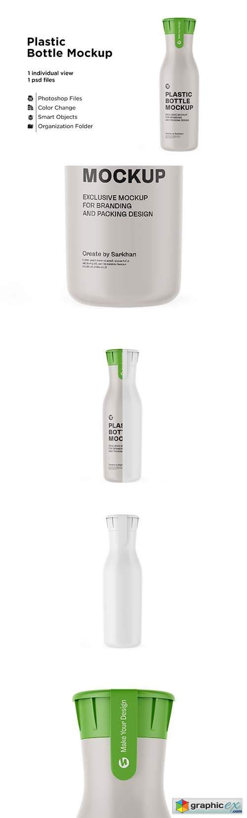 Matte Plastic Bottle With Mockup