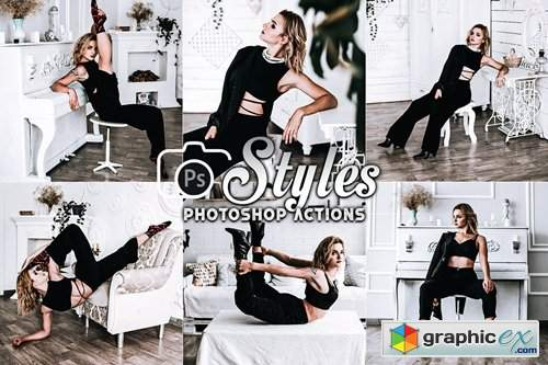 Black Style Photoshop Actions