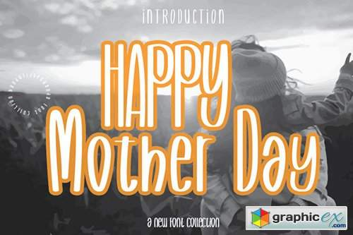 Happy Mother Day Font