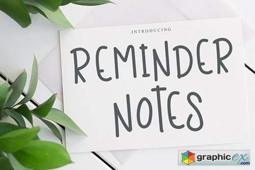 Reminder Notes Font