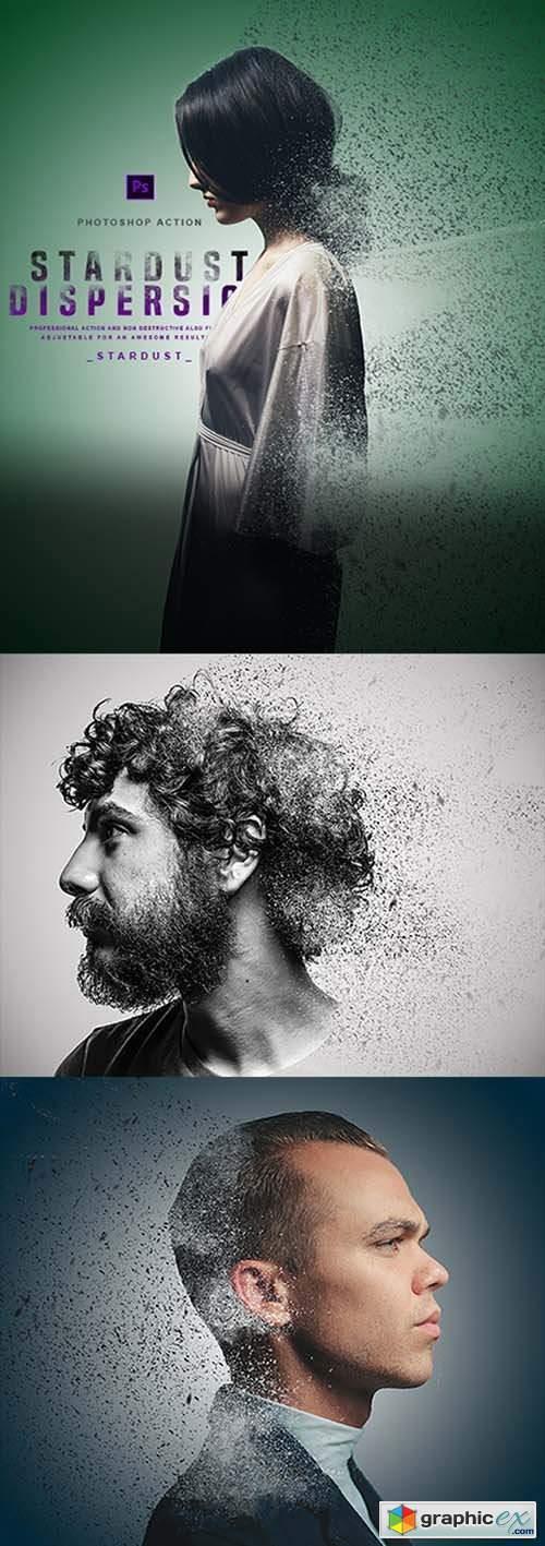Stardust Dispersion - Photoshop Action