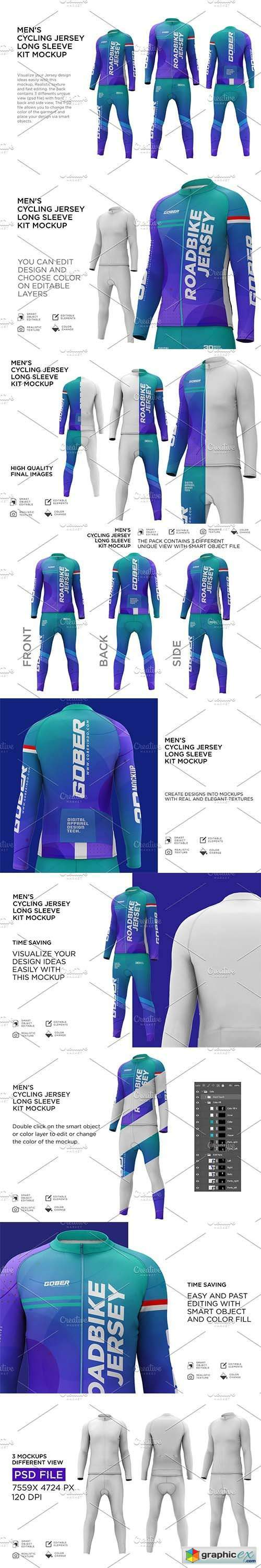 Cycling Jersey Long Sleeves Kit