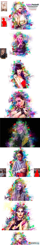 Color Portrait Photoshop Action 5919419