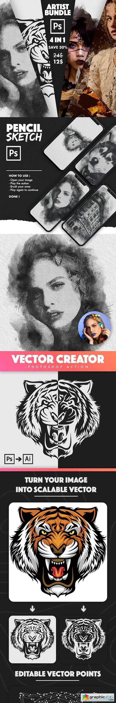 4 in 1 Artist Bundle Photoshop Actions