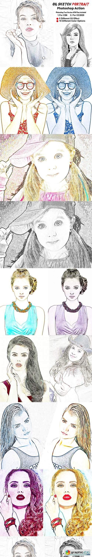 Oil Sketch Portrait Photoshop Action