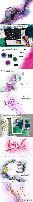 Galaxy Alcohol Ink Brushset