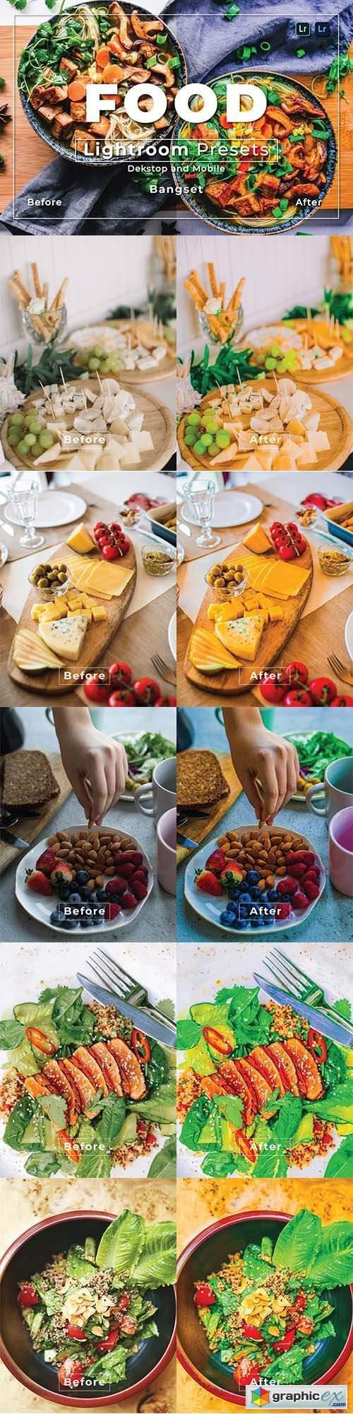 Food Desktop and Mobile Lightroom Preset