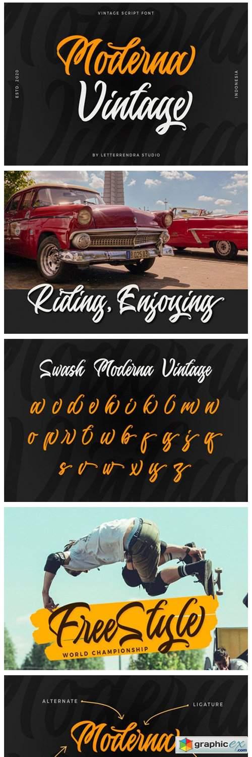 Moderna Vintage Font