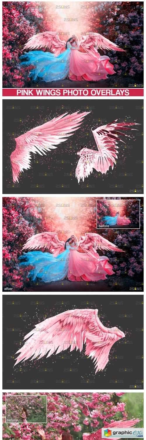 Pink Angel Wings Overlay