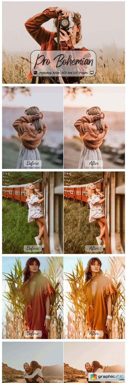 Pro Bohemian fotoshop Actions, ACR, LUT