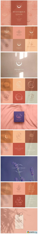 Logo Templates Collection ~ Mystic. Moth