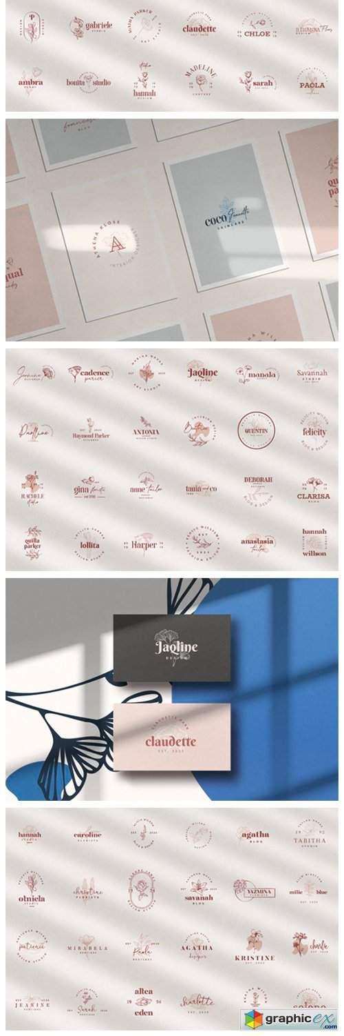 100 Logo Templates | Floral Logo
