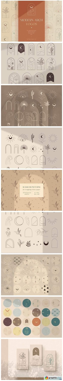 Modern Arch Logo Designs. Bohemian. Arc.