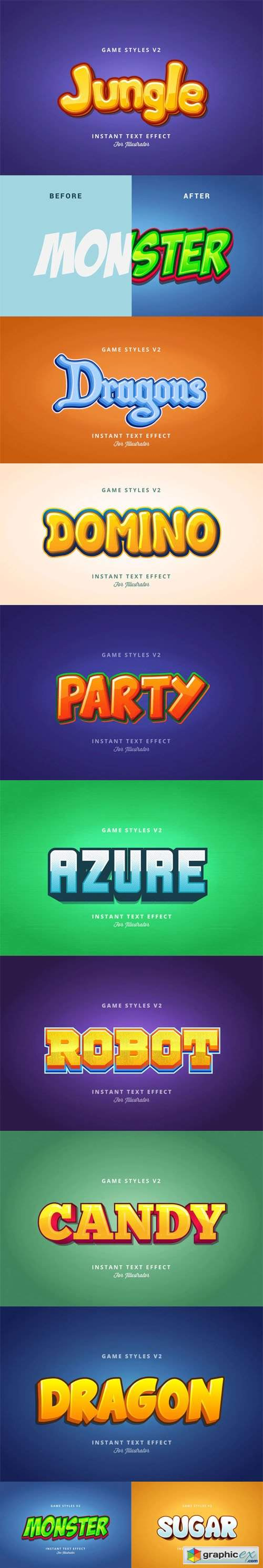 Game Styles Effects for Illustrator V2