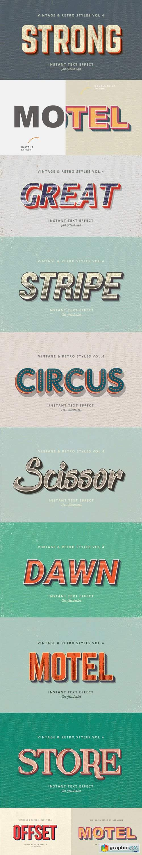 Vintage and Retro Graphic Styles Vol.4 for Adobe Illustrator