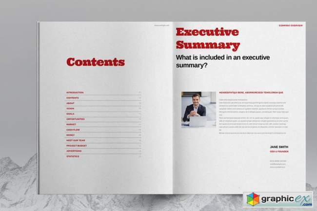 Red Brochure Layout Template