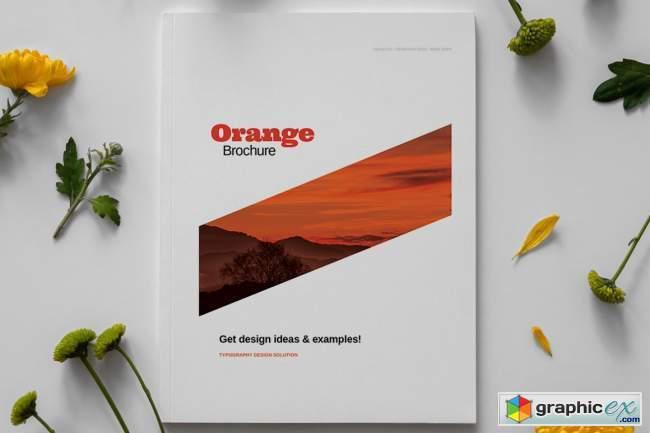 Orange Brochure Layout Template