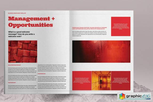 Red Business Brochure Template 6083779