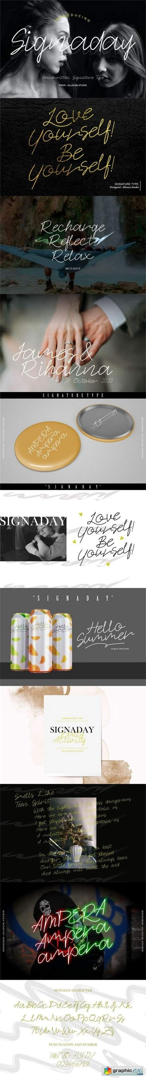 Signaday | Monoline Handwritten