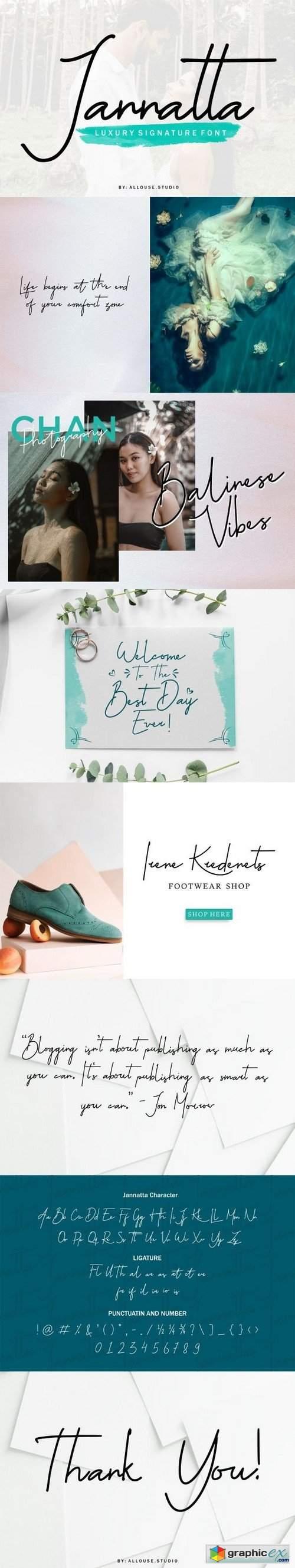 Jannatta | Luxury Signature Font