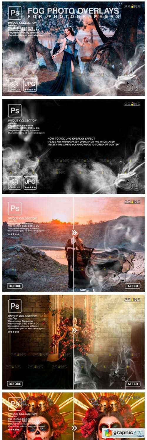 Photoshop Overlay: Fog Overlay
