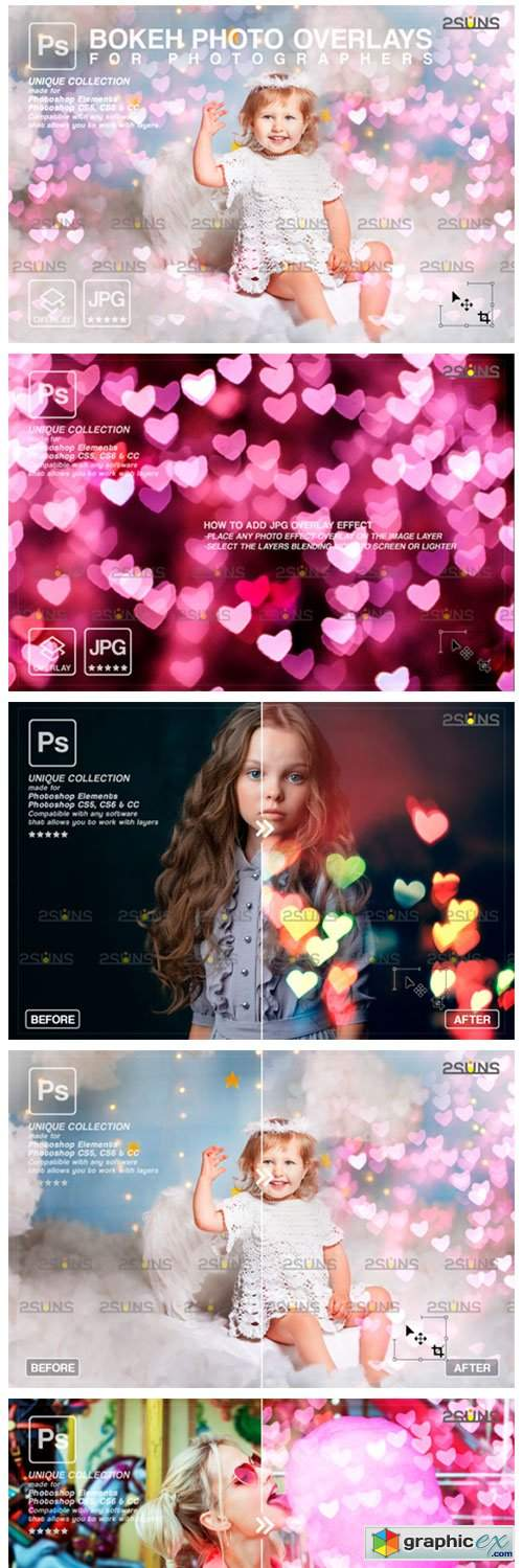 Valentine Overlay & Photoshop Overlay