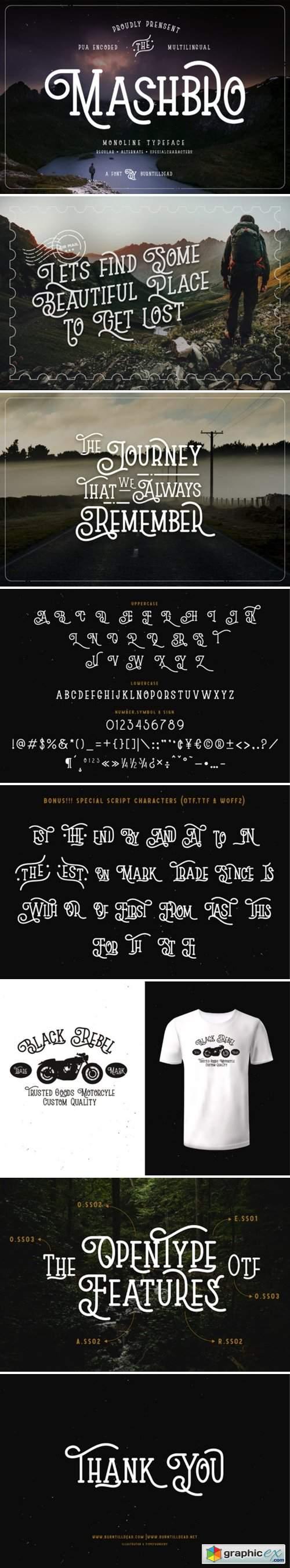 Mashbro Font
