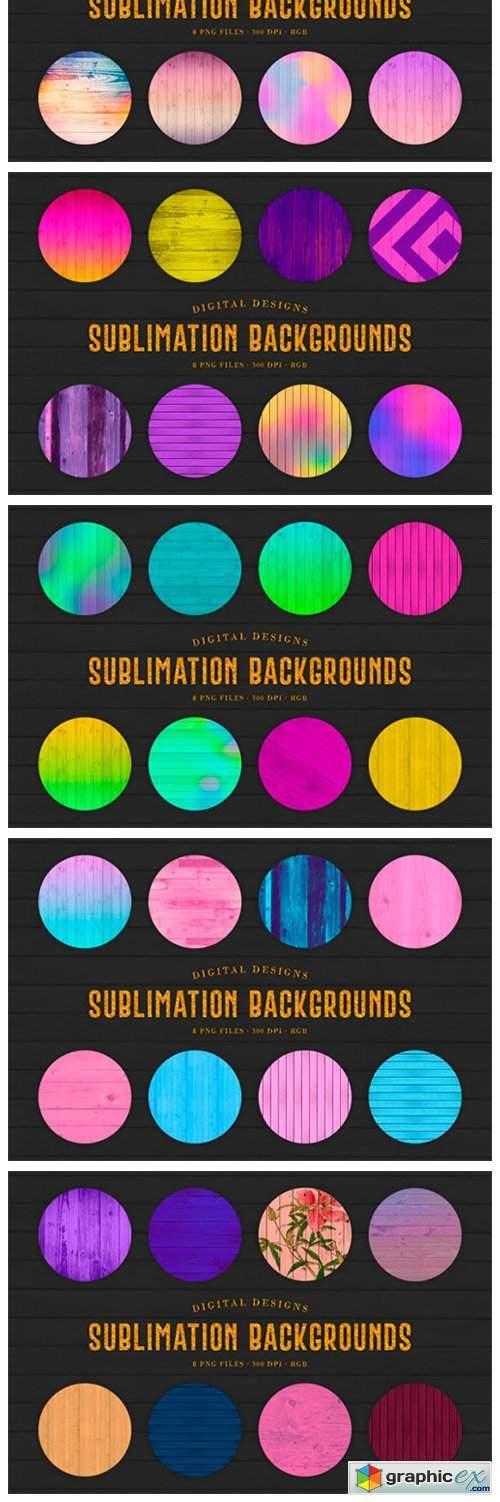 160 Sublimation Backgrounds BUNDLE