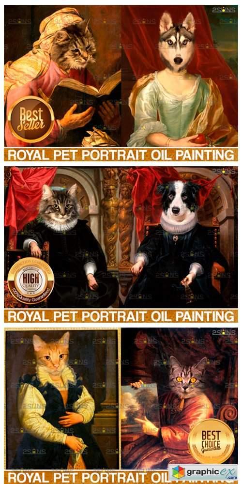 MEGA BUNDLE Royal Pet Portrait Templates