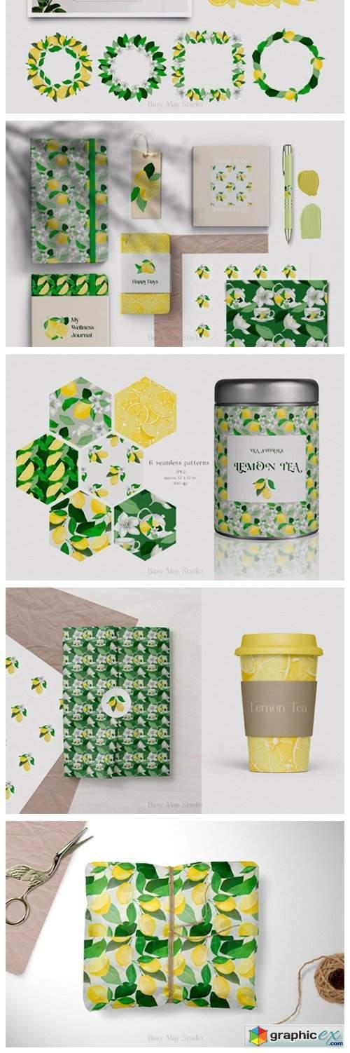 Lemon Gouache Illustrations and Patterns