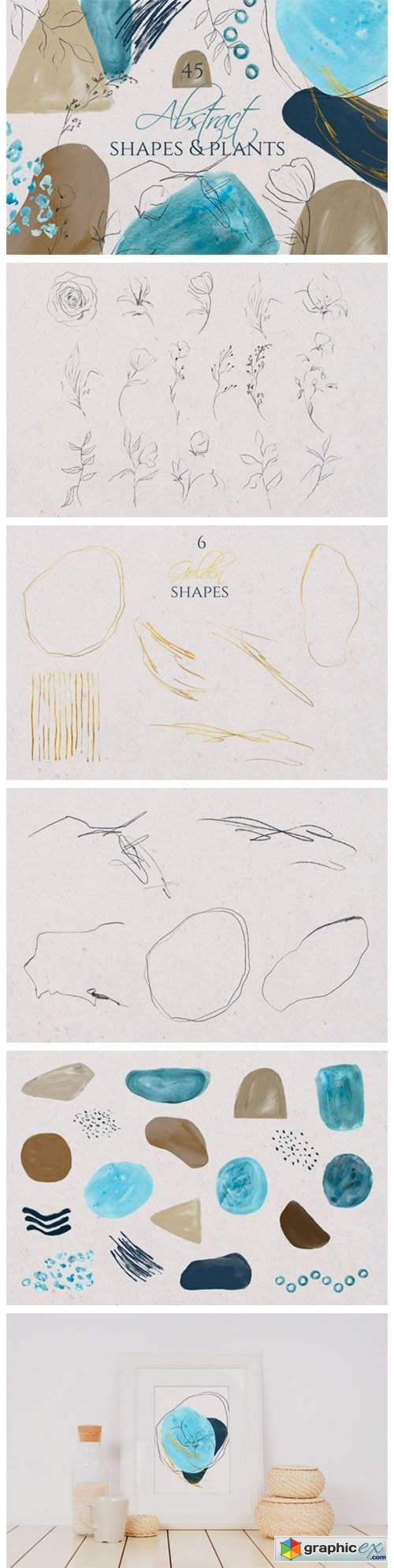 Modern Smooth Abstract Shapes