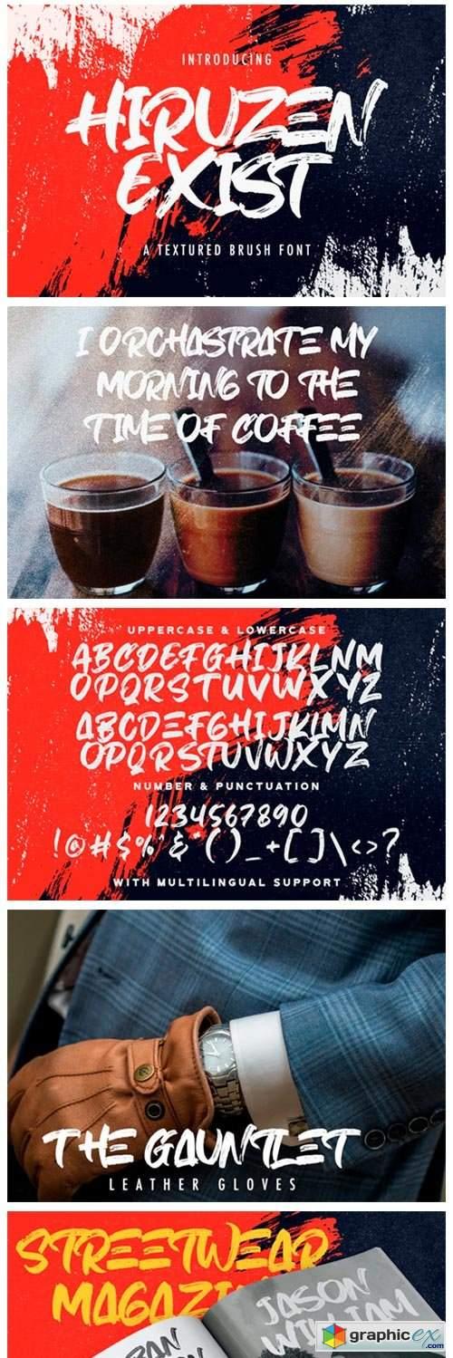 Hiruzen Exist Font Font