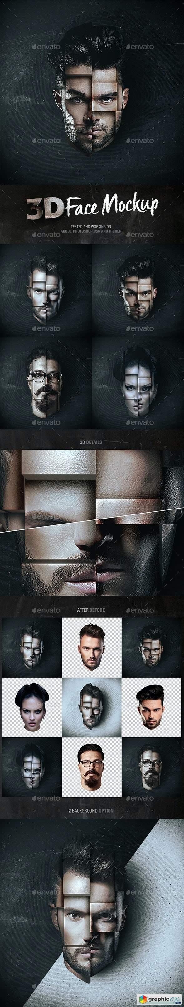 3D Face Mockup