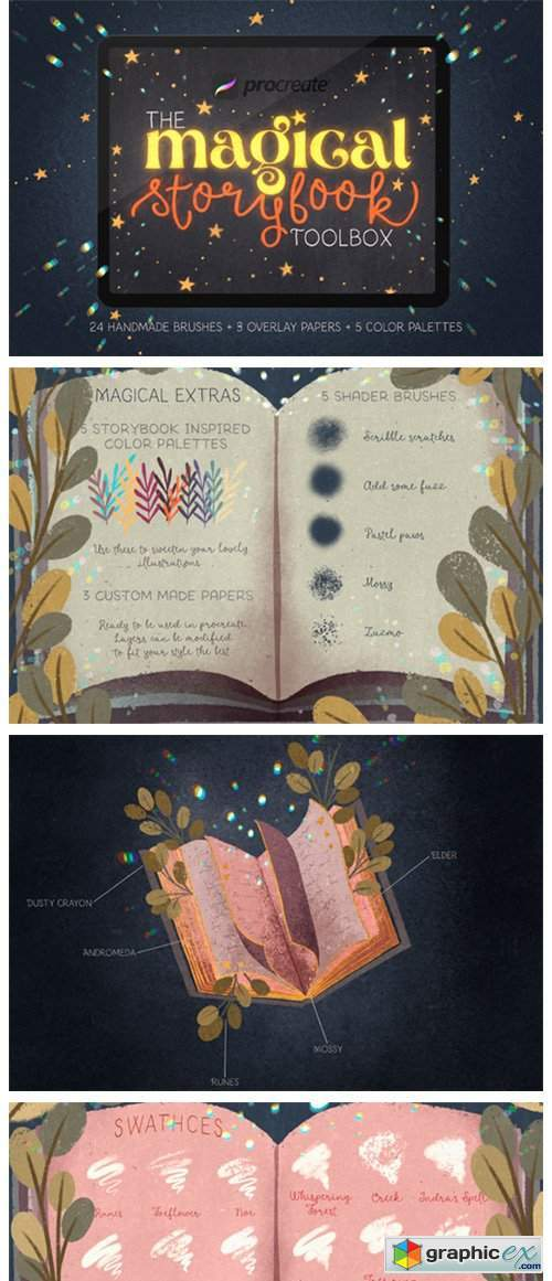 Magical Storybook Toolbox for Procreate