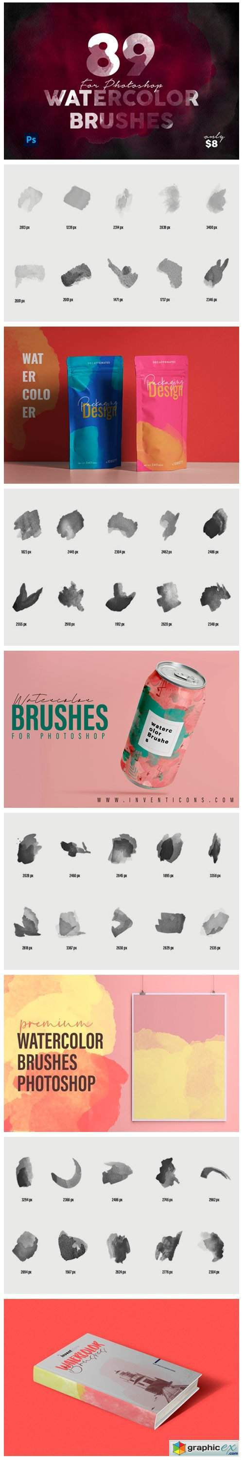 Realistic Watercolor fotoshop Brushes