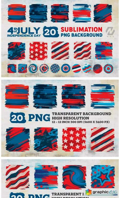 4th of July Background Sublimation