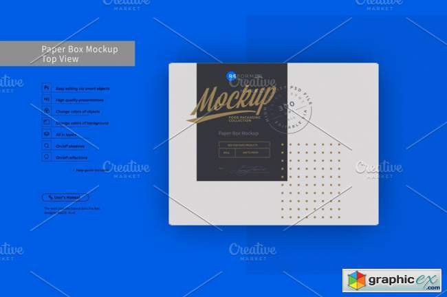 Paper Box Mockup Top View