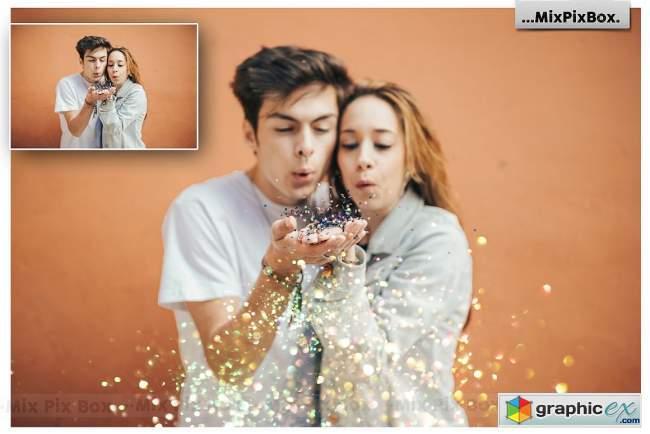 Glitter Photo Overlays