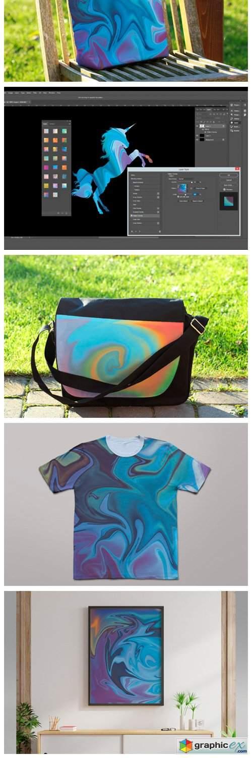 Liquid Texture & Photoshop Layer Styles
