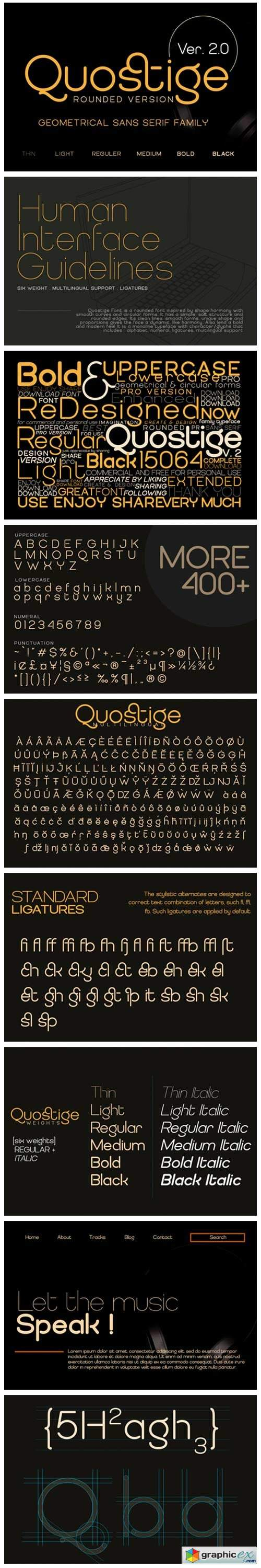 Quostige Rounded Font