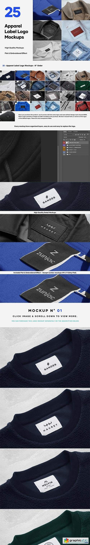 25 Apparel Tag & Labels Logo Mockups