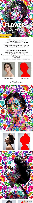 Flowers Clipart Photoshop Action