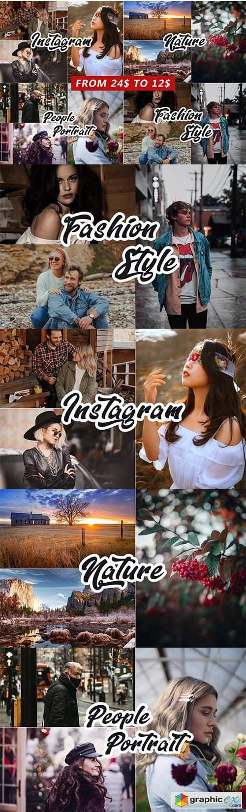 4 IN 1 Photoshop Actions Bundle 5810759