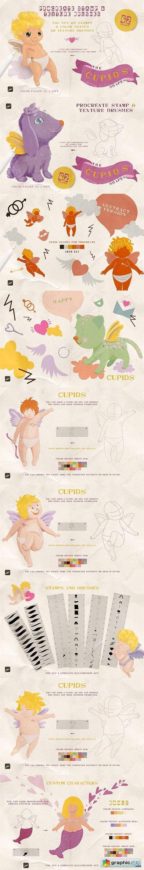 Cupids Procreate Stamps