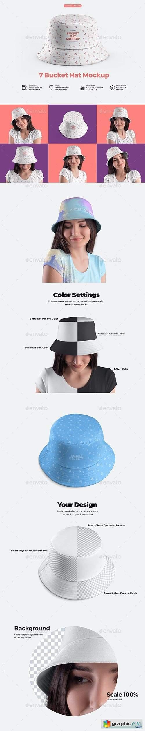 7 Bucket Hat Mockups