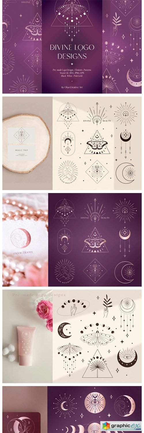 Divine Beauty Logo Designs, Patterns.