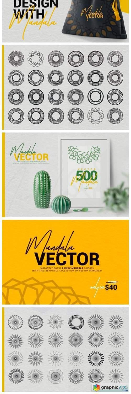 Collection of Modern Vector Mandalas