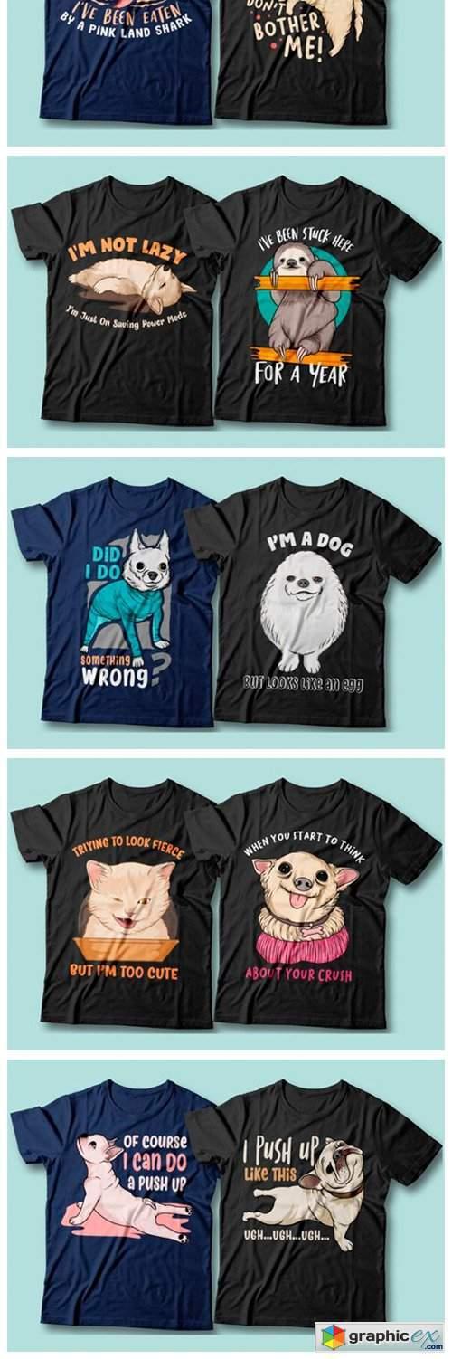 Funny Bundle T Shirt Designs Sublimation