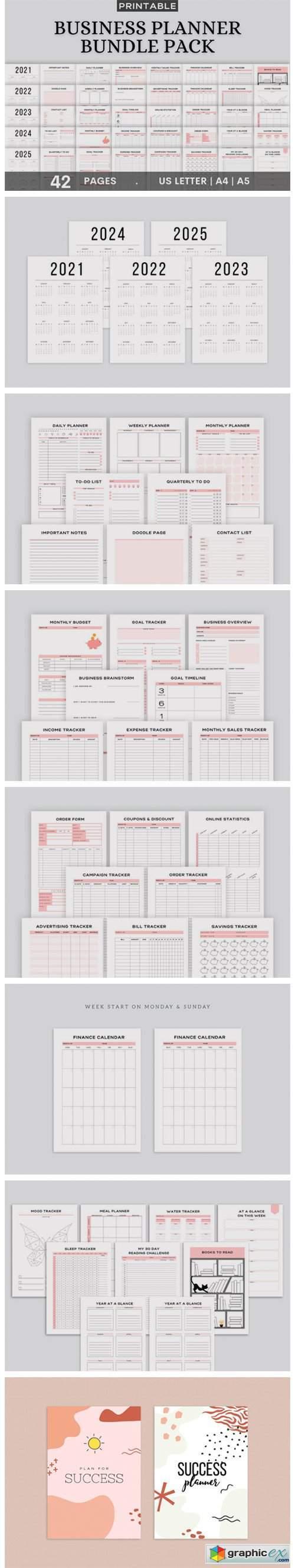 Printable Business Planner Bundle Pack