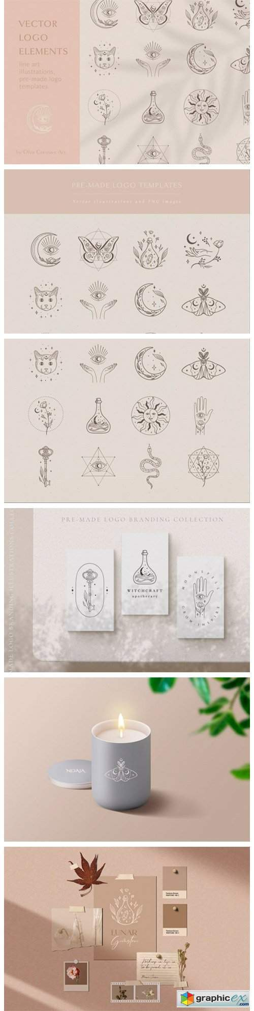 Logo Elements Vector Illustrations. Eyes
